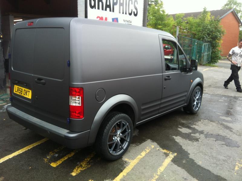 A Van With a Matt Wrap
